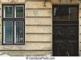 fenêtre, door.