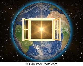 fenêtre, espace