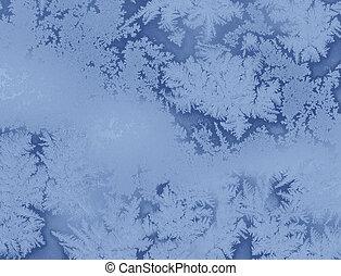fenêtre, gelée