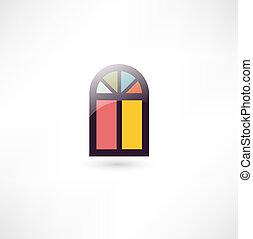 fenêtre, icône