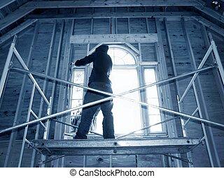 fenêtre, installation