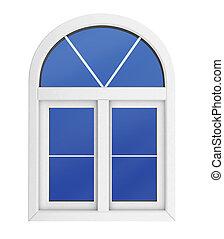 fenêtre, isolé, plastique