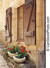 fenêtre, méditerranéen, boîtes