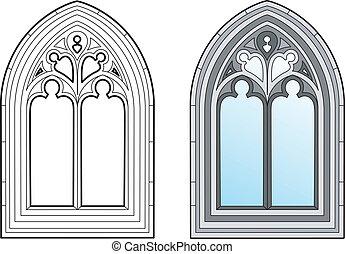 fenêtre, moyen-âge