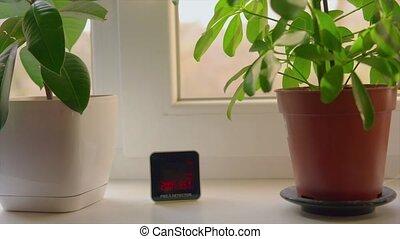 fenêtre, niveau, air, p.m., 2.5, détecteur, pollution, danger