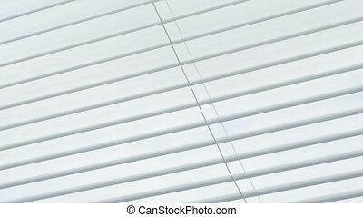 fenêtre., ouverture, abat-jour, fermer