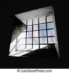 fenêtre, prison