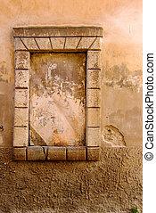 fenêtre, vieux, détail
