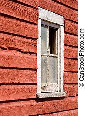 fenêtre, vieux, grange