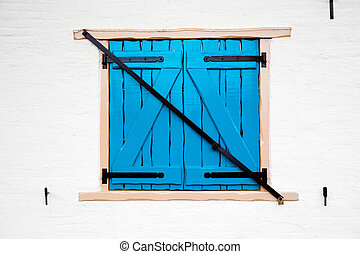 fenêtre, vieux, retro, volets