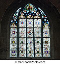 fenêtre, vitraux