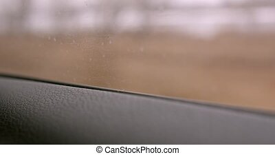 fenêtre voiture, par, en mouvement, vue