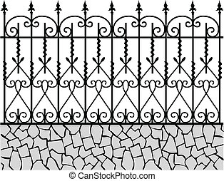 fence-1, schmiedeeisen