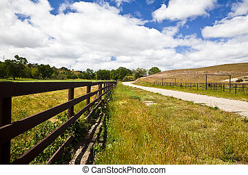 Fence Along a Country Road