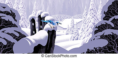 Fence and Blue Jay