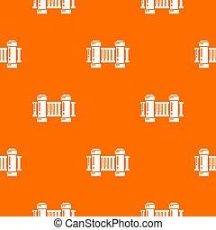 Fence architecture pattern orange