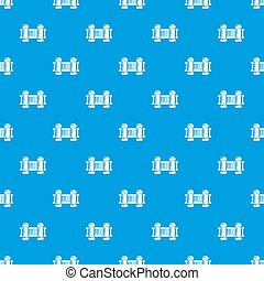 Fence architecture pattern seamless blue