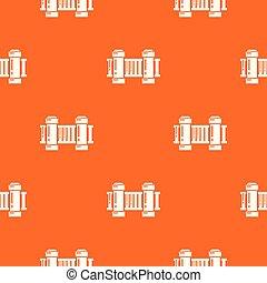 Fence architecture pattern vector orange