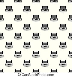 Fence architecture pattern vector seamless