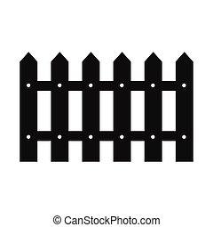 Fence black simple icon