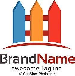 fence colorful logo