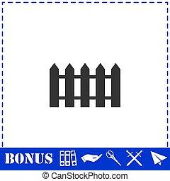 Fence icon flat