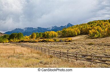 Fence In Colorado Mountains