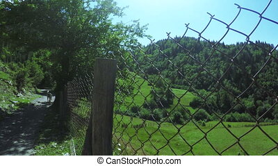 Fence in mountains