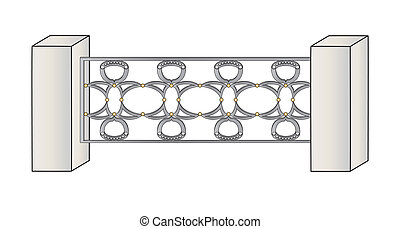 fence grille element of the architecture design