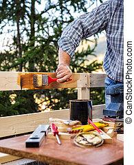 fence., legno, lavoro, artigiano
