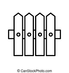 Fence line icon. vector illustration isolated on white. outline style design, designed for web and app. Eps 10