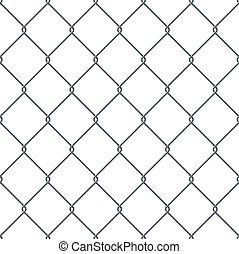 Fence made of metal wire.