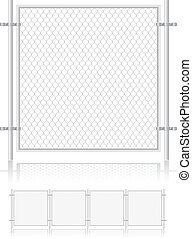 fence made of wire mesh vector illustration isolated on...