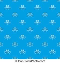Fence metal pattern seamless blue