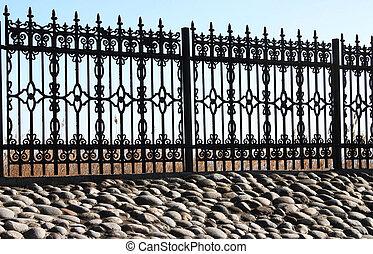 fence., metallisch