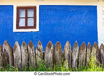 Fence near the old village house
