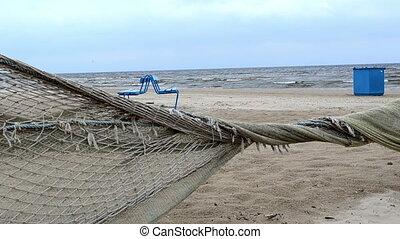fence net beach sea