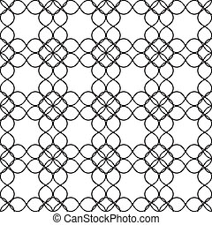 Fence of rounded wire seamless background