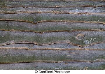 unpainted boards closeup