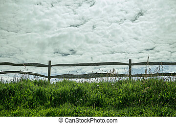 Fence on a field