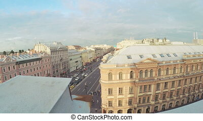 Fence on roof with zinc coating - RUSSIA, SAINT PETERSBURG,...