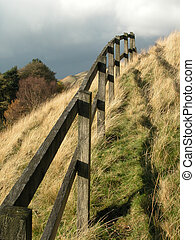 Fence over the hill