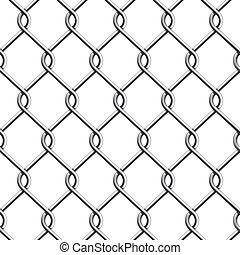 fence., seamless, 鎖