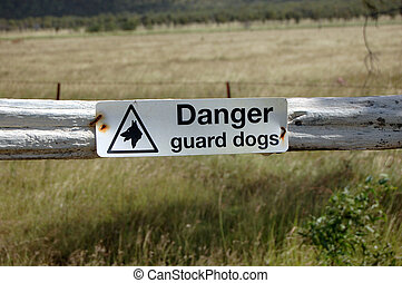 Fence sign