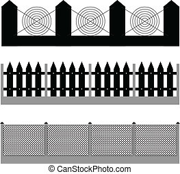 fence silhouette vector