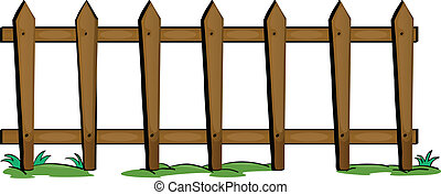 fence - illustration of fencing on a white background