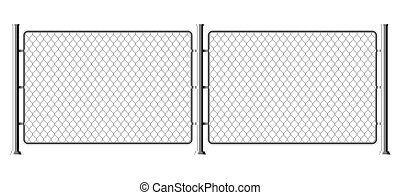 Fence wire metal chain link. Mesh steel net texture fence cage grid wall