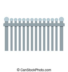 Fence with ball icon, flat style.