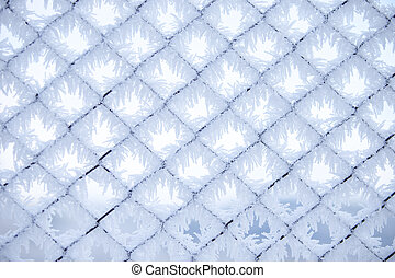 Fence with frost 2