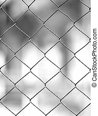 fence with swallow depth of field, blur background